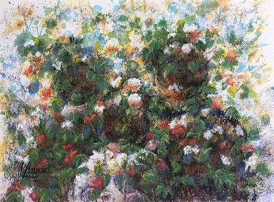 Painting - In The Garden by Laila Awad Jamaleldin