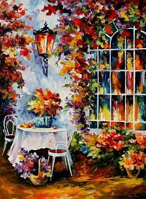 In The Garden Art Print by Leonid Afremov