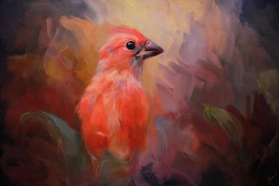 Painting - In The Garden Light Bird Art by Jai Johnson
