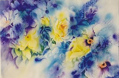 In-the-garden Art Print by Nancy Newman