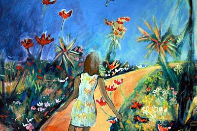 Painting - In The Garden Of Joy by Winsome Gunning