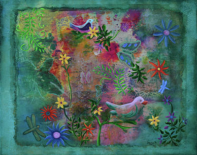 Mixed Media - In The Garden Of My Imagination by Donna Blackhall