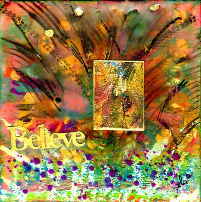 Mixed Media - In The Garden Of Strong Beliefs by Angela L Walker
