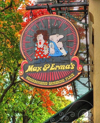 Photograph - In The German Village #2 - Original Max And Erma's - E. Frankfort And S. 3rd Streets - Columbus, Oh by Michael Mazaika