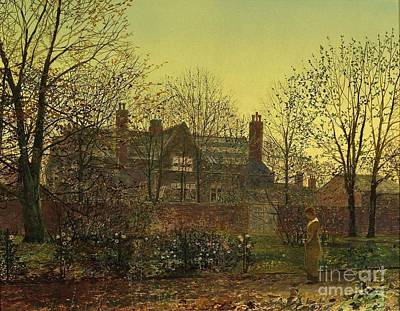Grimshaw Painting - In The Golden Twilight by MotionAge Designs