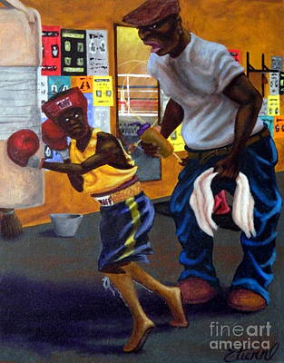 Painting - In The Gym by Clifford Etienne