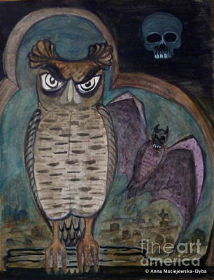 Folkartanna Painting - In The Halloween Mood by Anna Folkartanna Maciejewska-Dyba