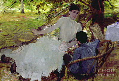 Child Swinging Painting - In The Hammock II, 1884 by Giuseppe Nittis