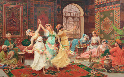 Sex Slaves Painting - In The Harem by Fabio Fabbi