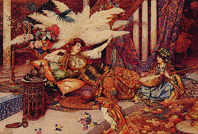 In The Harem Art Print by Guiseppe Signorini