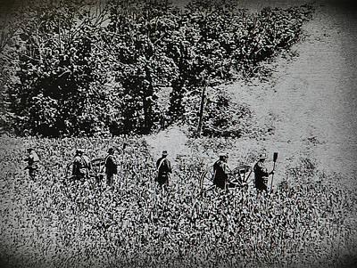 Artillery Digital Art - In The Heat Of Battle - Gettysburg Pa by Bill Cannon