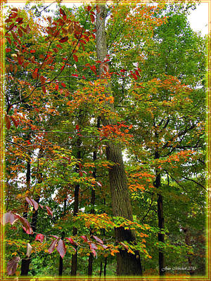 Art Print featuring the photograph In The Height Of Autumn by Joan  Minchak