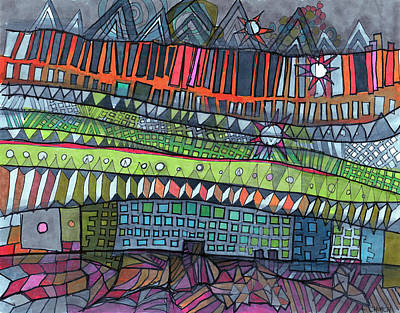 Many Colors Drawing - In The Horizon by Sandra Church
