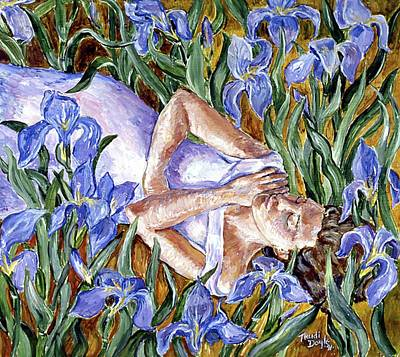 Painting - In The Iris Bed  by Trudi Doyle