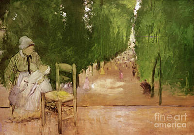 Painting - In The Jardin Du Luxeumbourg  by Edgar Degas