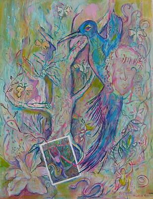 Fantasy Tree Mixed Media - In The Jungle by Marlene Robbins