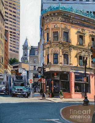 Boston Painting - In The Land Of Giants by Deb Putnam