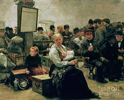 Ellis Island Painting - In The Land Of Promise by Charles Frederic Ulrich