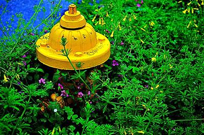 Fire Hydrant Mixed Media - In The Leaves by Isabel Medina