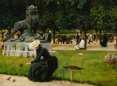 Painting - In The Luxembourg  by Charles Courtney Curran