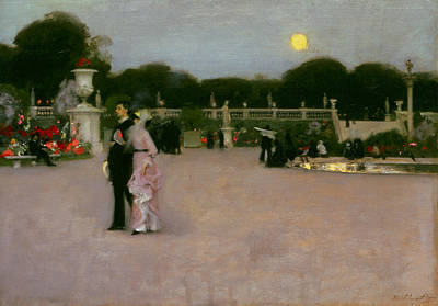 In The Luxembourg Gardens Art Print