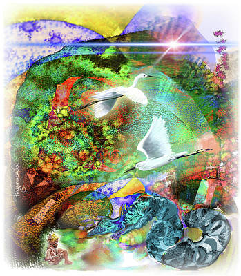 Digital Art - In the Magnificence by Tony Macelli