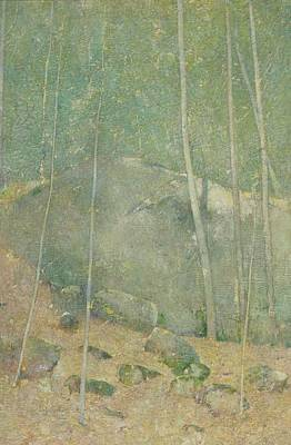 Maine Landscapes Painting - In The Maine Woods by Emil Carlsen