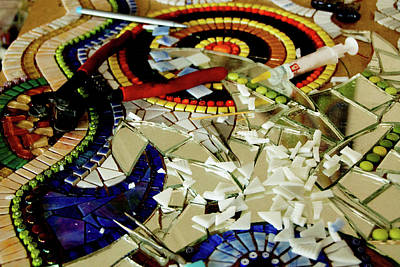 Mosaic Mixed Media - In The Making by Adriana Zoon