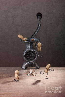 Peanuts Photograph - In The Meat Grinder 01 by Nailia Schwarz
