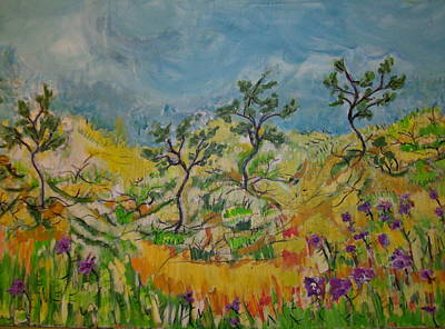Painting - In The Middle Of Nowhere by Francine Ethier