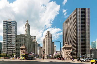 Photograph - In The Middle Of Wacker And Michigan by David Levin