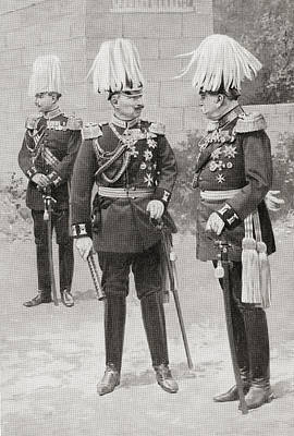 In The Middle, Wilhelm II Or William Art Print by Vintage Design Pics