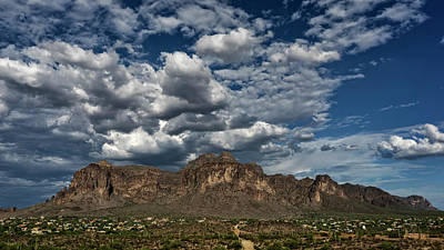 Art Print featuring the photograph In The Midst Of The Superstitions  by Saija Lehtonen
