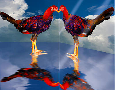 In The Mirror Art Print by John Breen