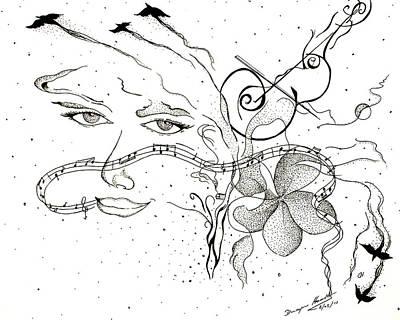 In The Mist Of Smoke Art Print by Dwayne  Hamilton
