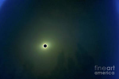 Solar Eclipse Mixed Media - In The Moment Of Darkness  by Tanya Filichkin