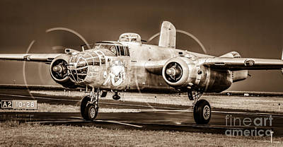 In The Mood - B-25 II Art Print by Steven Reed