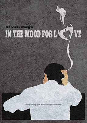 Painting - In The Mood For Love Minimalist Alternative Movie Poster by Inspirowl Design
