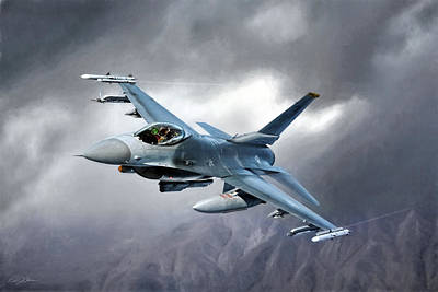 F-16 Digital Art - In The Mood by Peter Chilelli