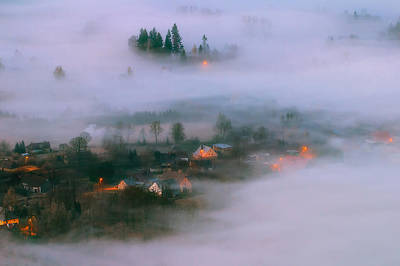 Fog Photograph - In The Morning Fog by Piotr Krol (bax)