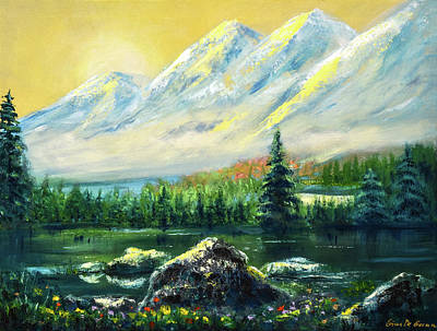 Painting - In The Mountains by Gina De Gorna