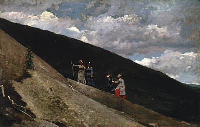 Hiker Painting - In The Mountains by Winslow Homer