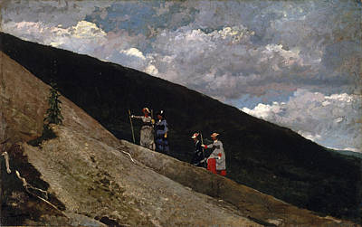 Winslow Homer Painting - In The Mountains by Winslow Homer