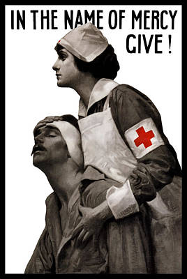 Us Propaganda Painting - In The Name Of Mercy Give by War Is Hell Store