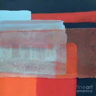 Abstract Handbag Painting - In The Navy by Jilian Cramb - AMothersFineArt