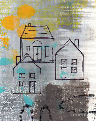 Urban Landscape Mixed Media - In The Neighborhood by Linda Woods