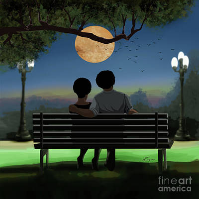 Painting - In The Park After Dark by Reggie Duffie