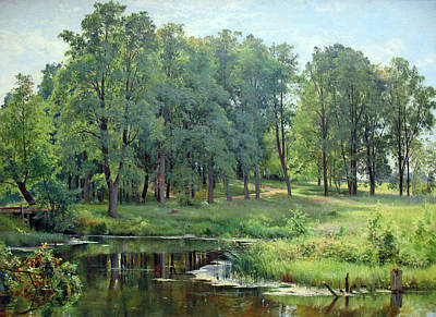 Russian Art Painting - In The Park by Ivan Shishkin
