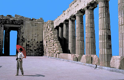 Photograph - In The Parthenon In Greece by Carl Purcell