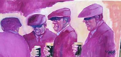 Painting - In The Pub  by Kevin McKrell